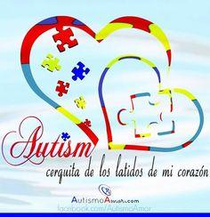 """Alguien con#Autismovive cerquita de los latidos de mi""¿Te identificas? #cita #frase #quote #logo #autismoamor #autism"
