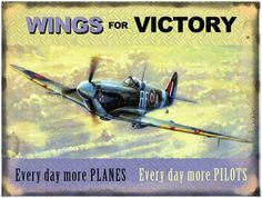 Kevin Walsh - Wings for Victory Placa de lata