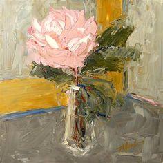 Original Art By Judy Mackey | Ugallery.com – Online Art Gallery.. Peony in a Bud Vase