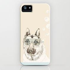 Diver Dog iPhone & iPod Case by Cecilia Sánchez - $35.00