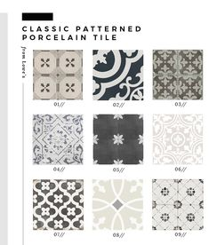 flooring pattern Roundup : Classic Patterned Floor Tile from Lowes - Room for Tuesday Grey Floor Tiles, Grey Flooring, Floors, Wood Floor, Room Tiles, Bathroom Floor Tiles, Lowes Tile, Floor Patterns, Kitchen Floor Tile Patterns