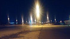 Ft hood yard at night