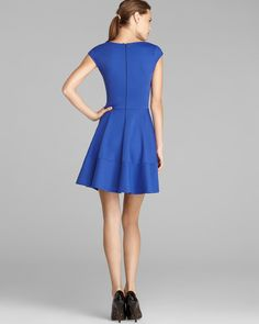 Aqua Dress - Cap Sleeve Full Circle | Bloomingdale's