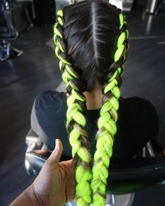 Baddie Hairstyles, Pretty Hairstyles, Braided Hairstyles, Scene Hairstyles, Rave Hair, Q Hair, Arctic Fox Hair Color, Long Gray Hair, Braids With Extensions