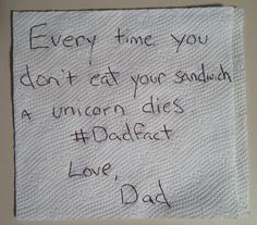 The Life of Dad: Passive Aggressive Lunchbox Notes.....Worth the read Funny Eating Quotes, Funny Quotes, Funny Pics, Best Funny Pictures, The Funny, Hilarious, Crazy Mom, Super Funny, Lunch Notes