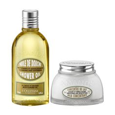L'Occitane's Almond products offer firming, nourishing and softening properties. Fights the appearance of cellulite and reshape the silhouette.