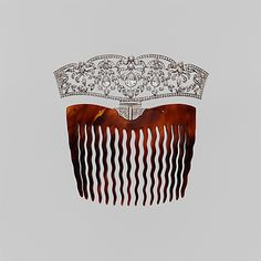 tortoise shell, platinum, and diamond comb, by Tiffany & Co., ca. 1910