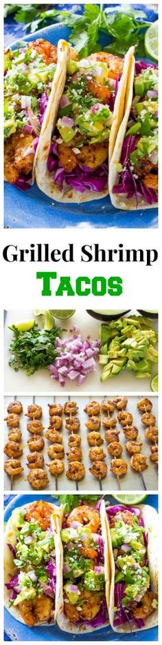 These Grilled Shrimp Tacos with Avocado Salsa are light and refreshing ...