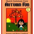 Autumn Fun Quick Common Core (3rd grade)