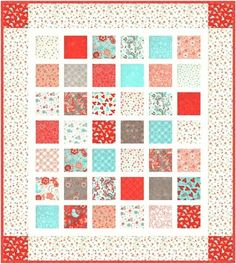 Bugged Out charm quilt pattern using Flirt fabrics