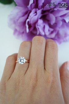 2 carat 4 Prong 8mm Solitaire Engagement Ring WANT! Simple but gorgeous