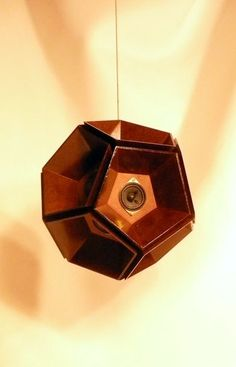 Wooden SPEAKER BALL Experimental Audio /// Dodecahedron. $500.00, via Etsy.