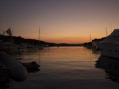 Lovely red sunset from Milna, Brac.