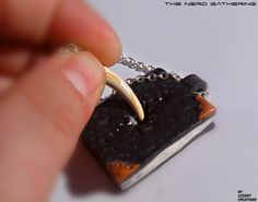 Harry Potter,Horcrux,Tom Riddle's Diary,Basilisk tooth,necklace made with polymer clay.