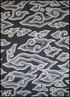 Textiil Black and Gray Cloud Batik Megamendung Ethnic Patterns, Textures Patterns, Color Patterns, Mega Mendung, Batik Couple, Shape Design, Design Art, Design Ideas, Indonesian Art