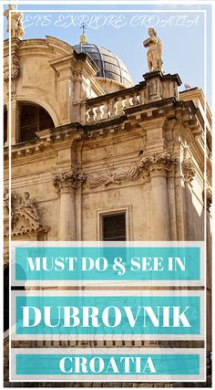 Ultimate list of things to do in Dubrovnik for first time visitors. Includes the best sights, tours, day trips, places to eat, where to stay and tips. European Vacation, European Travel, Travel Europe, Italy Travel, Dubrovnik Croatia, Croatia Travel, Montenegro, Travel Guides, Travel Tips