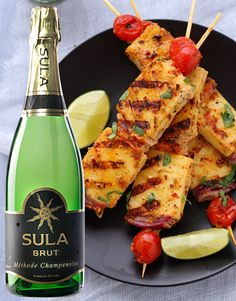 Sula Brut paired with Malai Paneer Tikka
