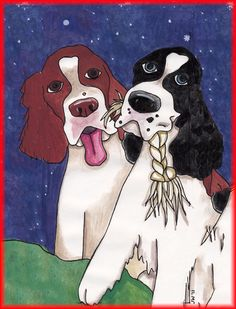 A special artist who donates her original art to the New England Springer Spaniel Rescue.http://www.essrescue.org/store.php