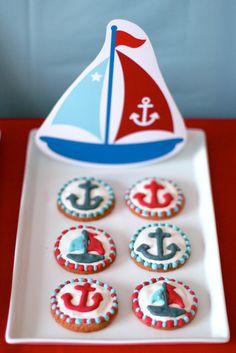 Nautical cookies #cookies #nautical