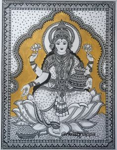 This is a fine art print of the original drawing done by me. The original drawing of this print was done using pens and acrylic paints. Made of intricate patterns and designs was mainly inspired by Kalamkari art style. <<WATERMARK WILL BE REMOVED FROM PRINTS>> This print of Goddess