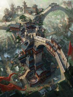 ArtStation - dragon city 2, chen kai