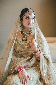 Photography: Weddings by Colorblind Indian Bridal Fashion, Pakistani Bridal Dresses, Pakistani Outfits, Indian Outfits, Bridal Lenghas, Desi Wedding, Wedding Wear, Wedding Dresses, Indian Attire
