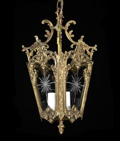 Carlson Galleries Antique Lantern Pendant Light Red Vintage Br Bronze Gl Chandelier 295 00