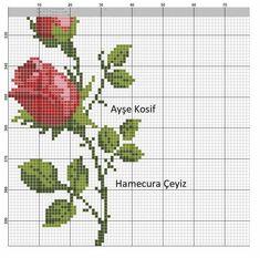 Rose Embroidery, Embroidery Stitches, Cross Stitch Flowers, Cross Stitch Patterns, Brazilian Embroidery, Cross Stitching, Table Runners, Needlework, Needlepoint