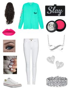 """""""""""PINK"""" outfit"""" by mckaylahooks on Polyvore featuring Victoria's Secret, Burberry, Converse, Paula Dorf, Vivienne Westwood and Palm Beach Jewelry"""