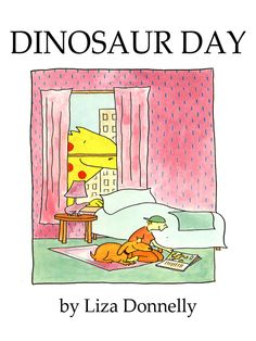 Dinosaur Day Crazy about dinosaurs, a boy and his dog imagine they see one under every lump of snow until the day they get a big surprise. Includes an illustrated glossary listing various dinosaurs and their characteristics.