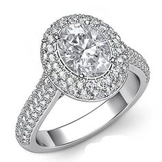 $6,969  -  * GIA CERTIFIED * 2.47 CARATS OVAL CUT DIAMOND HALO ENGAGEMENT RING ON 14K SOLID WHITE GOLD F 26 D http://www.amazon.com/dp/B00M4DS2W4/ref=cm_sw_r_pi_dp_fDOyub1TVKAZ5