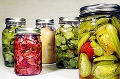 Guía para hacer conservas en vinagre. Recetas y preparación de diversas conservas en vinagre. Cómo hacer conservas de hortalizas y tubérculos