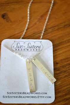 Six Sisters Beadworks Custom Engraved Jewelry {Review}