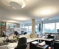 Glu, couple of suspension lamps - business office in Castelfranco Veneto ( TV ) #lightingdesign