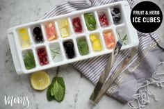 Fruit & Herb Ice Cubes - http://momsoftulsa.com/fruit-herb-ice-cubes/