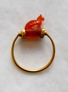 "museum-of-artifacts: ""Ancient egyptian gold finger-ring. About 1070 - 712 BC. """
