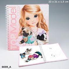 Album de coloriage Top Model Canin, cadeau jeune fille, Cadodes.com