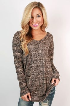 You'll stay casually chic with this v-neck tee!