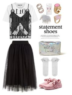 """Statement shoes"" by miee0105 ❤ liked on Polyvore featuring Puma, McQ by Alexander McQueen, Hollister Co., Marc by Marc Jacobs, Iphoria, Tiffany & Co. and Monsoon"