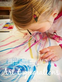 Preschool Homeschool Art Explorations: experiences, books and materials for creating meaningful art experiences for children {from An Everyday Story}