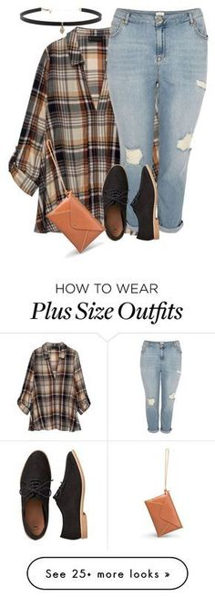 """Plus size plaid chic 1/ casual"" by xtrak on Polyvore featuring Bobeau, River Island, Gap and Carbon & Hyde"