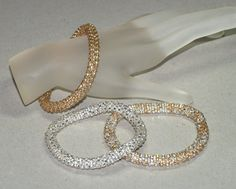 Triplets Shiny ... Bangle Set . Bracelet . Bead by time2cre8
