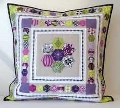 Hexed In Pillow - The Finish! | I finished - and before the … | Flickr
