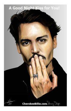 Good night kiss Johnny Depp