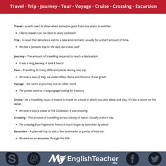 Forum | ________ English Grammar | Fluent LandTravel – Trip – Journey – Tour……