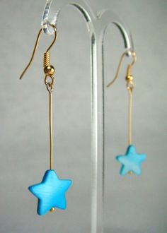 Mother of Pearl Star Drop Earrings - Tropical Seas - £5.50 at http://jewellerybyrebecca.co.uk/mpe008