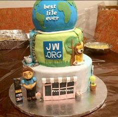 Hand made JW Cake in Anguila