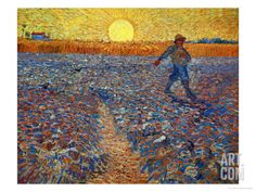 Sower after Millet by Vincent van Gogh is a museum quality oil painting reproduction, hand-painted on canvas. All our oil paintings are free worldwide shipping, Money-back Guarantee. Vincent Van Gogh, Art Van, Kunst Poster, Doodle, Van Gogh Paintings, Museum, Art Archive, Oil Painting Reproductions, Western Art