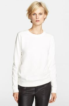 Vince Women's Quilted Detail Sweatshirt Winter White | Activewear, Pullovers, Sweater and Clothing