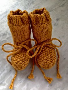 Knitting Patterns Galore - GeorgiaBean's Best Baby Booties
